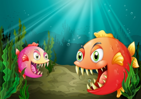 downunder: Illustration of a small and a big fish
