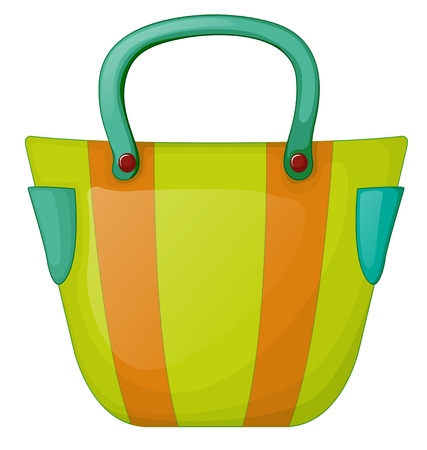 Illustration of a colorful fashion bag on a white background Vector