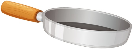 Illustration of a frying pan on a white background Vector