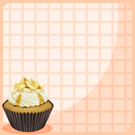 Illustration of a paper with a cupcake Stock Vector - 18983388