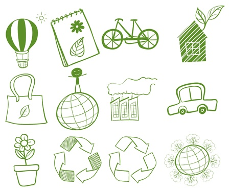 Illustration of the things found in our environment Vector