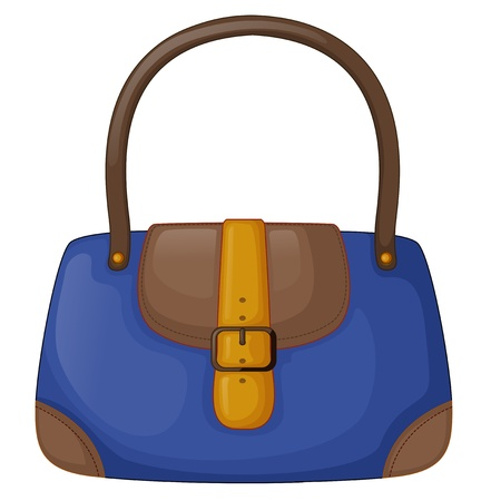 Illustration of a blue office bag on a white background Vector