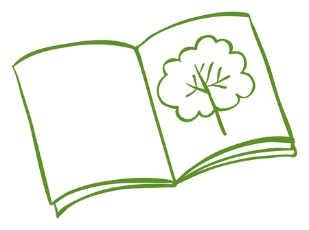 Illustration of a book with a drawing of a tree on a white background Stock Vector - 19301240