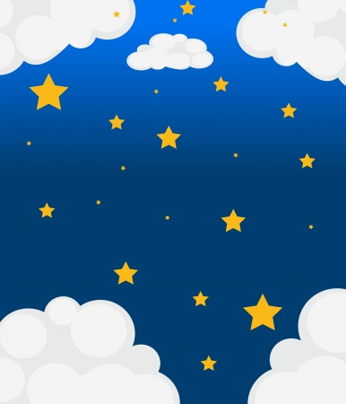 bluish: Illustration of a sky with bright stars