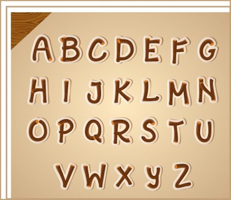 Illustration of the letters of the alphabet Vector