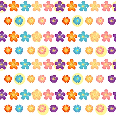 Illustration of a flowery wallpaper design on  a white background Vector