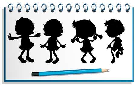 Illustration of a notebook with kids at the cover page on a white background  Stock Vector - 19301277