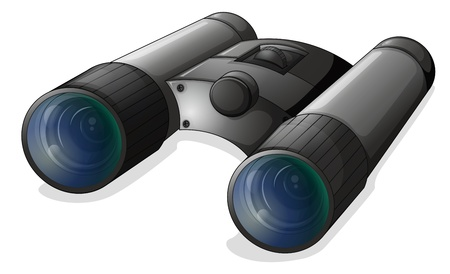 Illustration of a telescope on a white background Vector