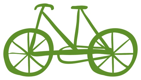 Illustration of a green bike on a white background Stock Vector - 19301247