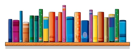 Illustration of a set of different books on a white background Vector