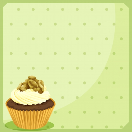 Illustration of a special paper design with a cupcake  Stock Vector - 19301401