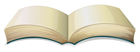 Illustration of an empty thick book on a white background Stock Vector - 19389539