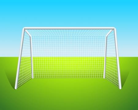 Illustratie van een voetbal doel