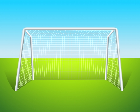 metal net: Illustration of a soccer goal