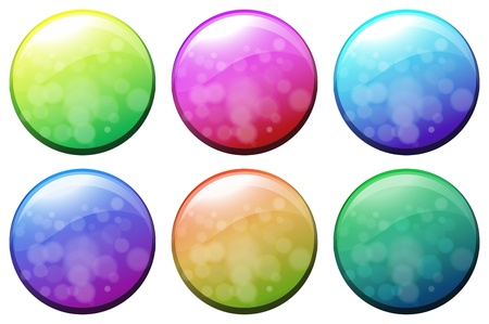 Illustration of the six colorful circles on a white background Vector