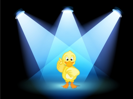 centerstage: Illustration of a duck with spotlights