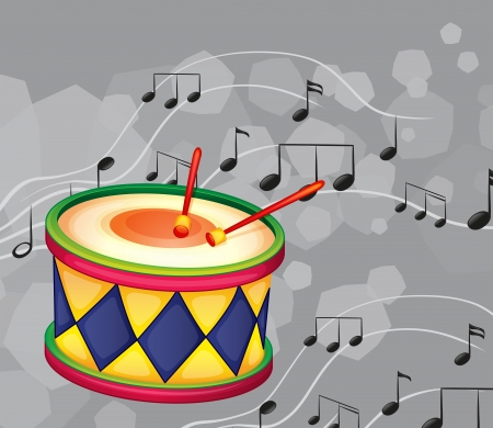 percussion: Illustration of a drum with musical notes