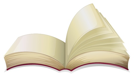in fact: Illustration of an empty open book  on a white background  Illustration