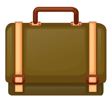 Illustration of a big travelling bag on a white background Stock Vector - 19389407