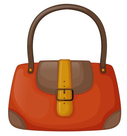 Illustration of an orange handbag on a white background Stock Vector - 19389422