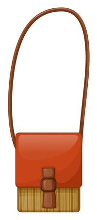 sling: Illustration of a fashionable slingbag on a white background