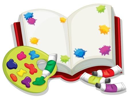 canvass: Ilustraci�n de un libro en blanco sobre un fondo blanco Vectores