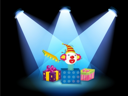 centerstage: Illustration of the gift boxes with spotlights