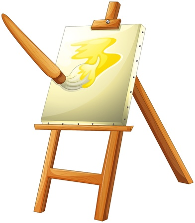 canvass: Illustration of a painting board on a white background
