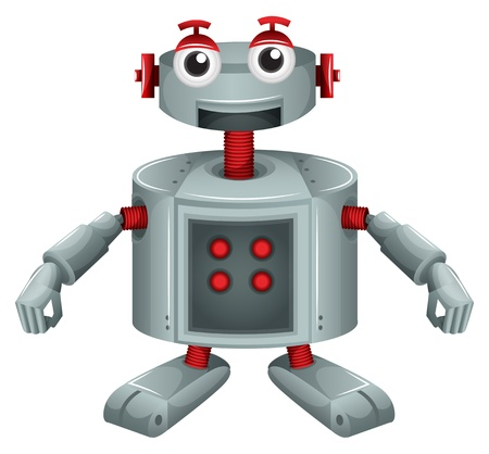 Illustration of a toy robot on a white background  Stock Vector - 19413696