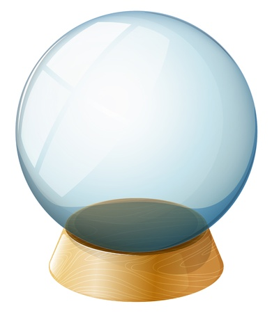 Illustration of a transparent dome on a white background Illustration