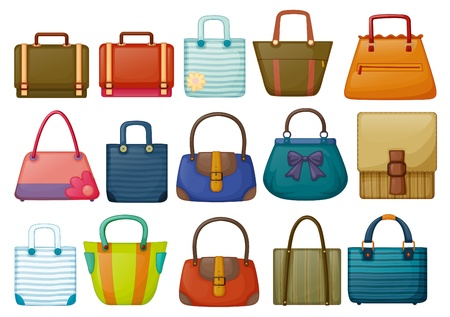 Illustration of the different bag designs on a white background Illustration