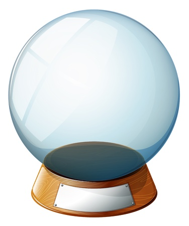 space: Illustration of an empty magic ball on a white background Illustration