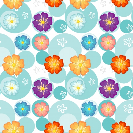 enhancement: Illustration of a seamless flowery design on a white background