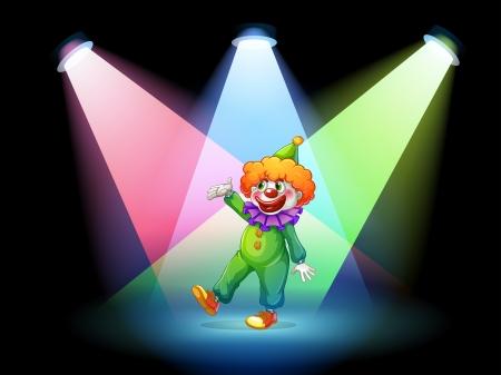 Illustration of a clown under the spotlights  Stock Vector - 19645405