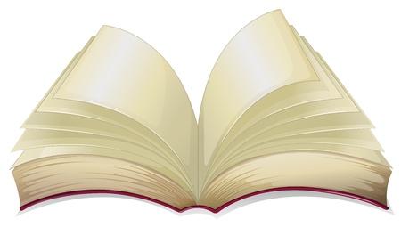 Ilustración de un libro en blanco sobre un fondo blanco