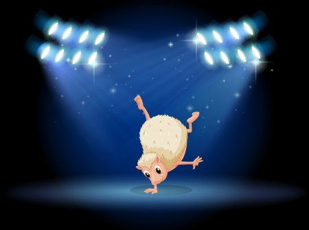 stageplay: Illustration of a molehog doing breakdance Illustration