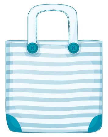 Illustration of a blue handy bag on a white background Stock Vector - 19645265