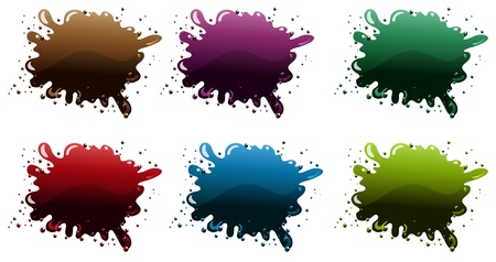 canvass: Illustration of the different paint colors on a white background