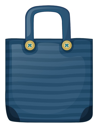 Illustration of a dark blue stripe bag on a white background Stock Vector - 19717549