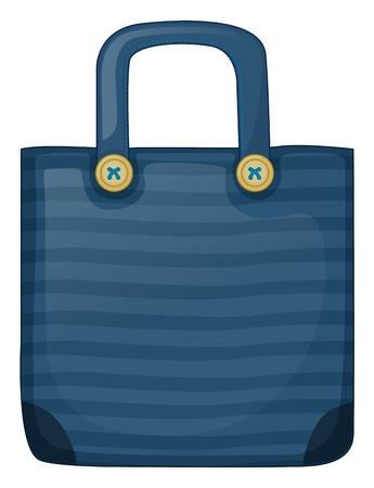Illustration of a dark blue stripe bag on a white background Stock Vector - 19717549