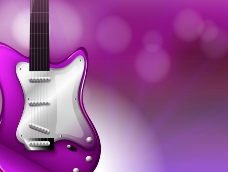 plucking an instrument: Illustration of a guitar with a gradient colored background