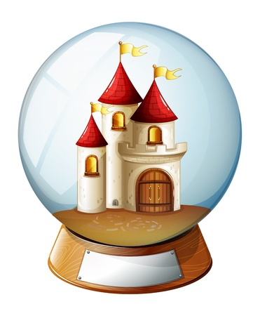 flaglets: Illustration of a dome with a castle on a white background