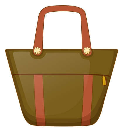 Illustration of a brown handbag  on a white background Stock Vector - 19846412