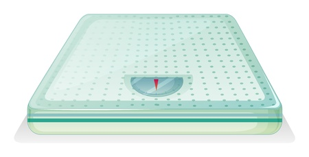 underweight: Illustration of a weighing scale on a white background Illustration