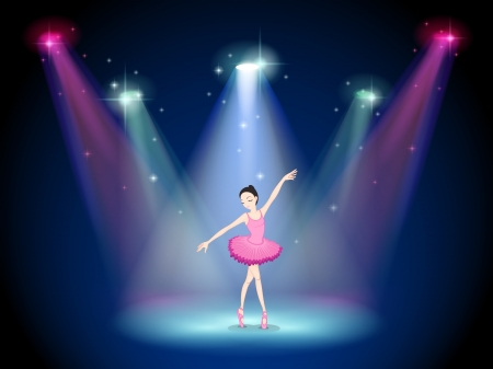 stageplay: Illustration of a graceful ballerina at the center of the stage