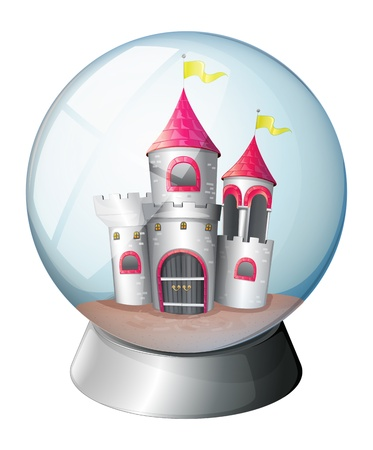 flaglets: Illustration of a palace inside a dome on a white background  Illustration