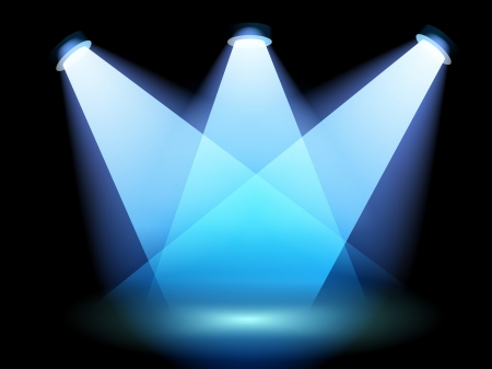 centerstage: Illustration of a spotlight at the stage Illustration