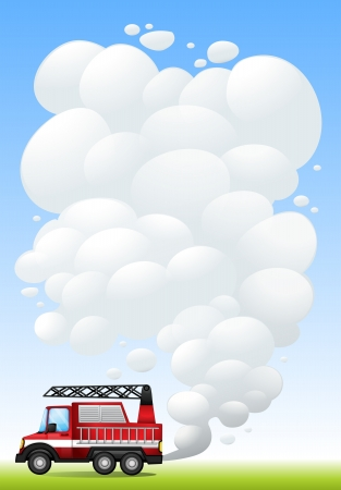 Illustration of a car with smoke  Illustration
