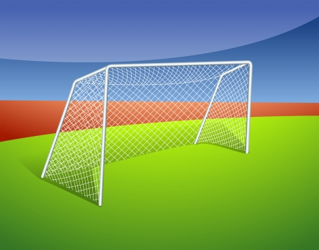 Illustration of a soccer goal  Illustration