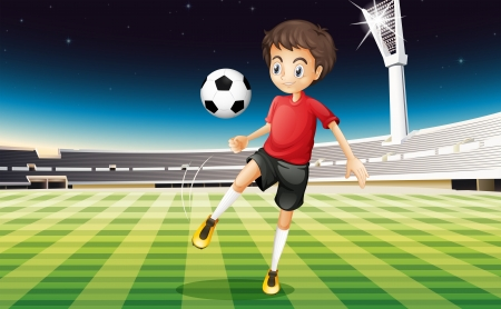 Illustration of a soccer player kicking a ball Stock Vector - 20272890